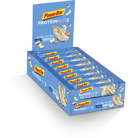 PowerBar Protein Nut 2 Bar Box 18x2x30g Milk White Chocolate Coconut